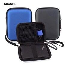 GUANHE 2,5 «жесткий диск чехол сумка ударопрочный водонепроницаемый HDD сумка для Seagate Тонкий Жесткий диск резервного копирования плюс тонкий 500 г 1 ТБ WD паспорт