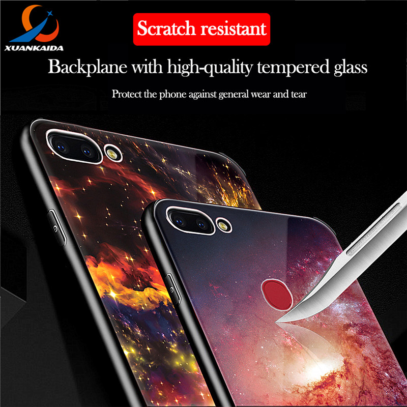 Aliexpress.com : Buy Milky Way Space Universe Starry Sky Tempered Glass Case For Vivo X20 Luxury