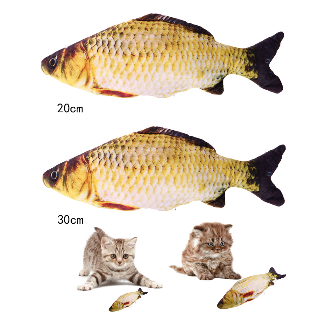 Cat Favor Fish Toy Stuffed Fish Cute Fish Shape Sisal Hemp Cat Scratch Board Scratching Post For Pet Products Supplies S /M ...