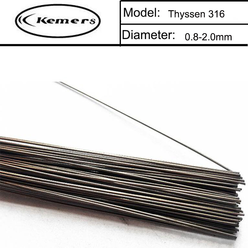 1KG/Pack Kemers Thyssen 316 Laser Welding Wire for Welders (0.8/1.0/1.2/2.0mm ) T012150 professional welding wire feeder 24v wire feed assembly 0 8 1 0mm 03 04 detault wire feeder mig mag welding machine ssj 18