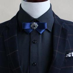 Роскошный детский галстук-бабочка в британском стиле с бриллиантами для мальчиков Вечерние