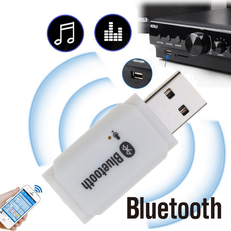 USB AUX Bluetooth 5.0 Receiver Handsfree Car Kit USB Audio Transmitter Adapter For Car Speaker MP3 Player With MIC No 3.5mm Jack