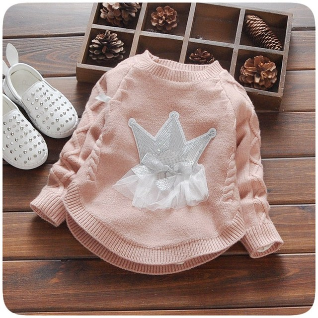 b4148dff0 Autumn Knitting Baby Infants Knitwear Long Sleeve Girl Princess Lace ...