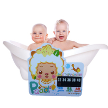 1Pcs Cartoon LCD Bath Thermometer Infant Baby Bath Water Temperature Digital Bath Thermometer Plastic Temperature Thermometer