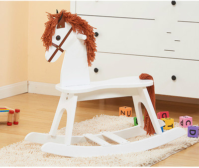 Wooden rocking horse horse baby rocking fancy toy rocking horse strong environmental protection пуф wooden круглый белый