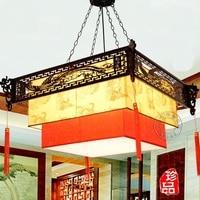 Китайский Деревянный светильник Дракон висящий отель Ретро Горячая коробка Люстра для чайной ZH ZS53