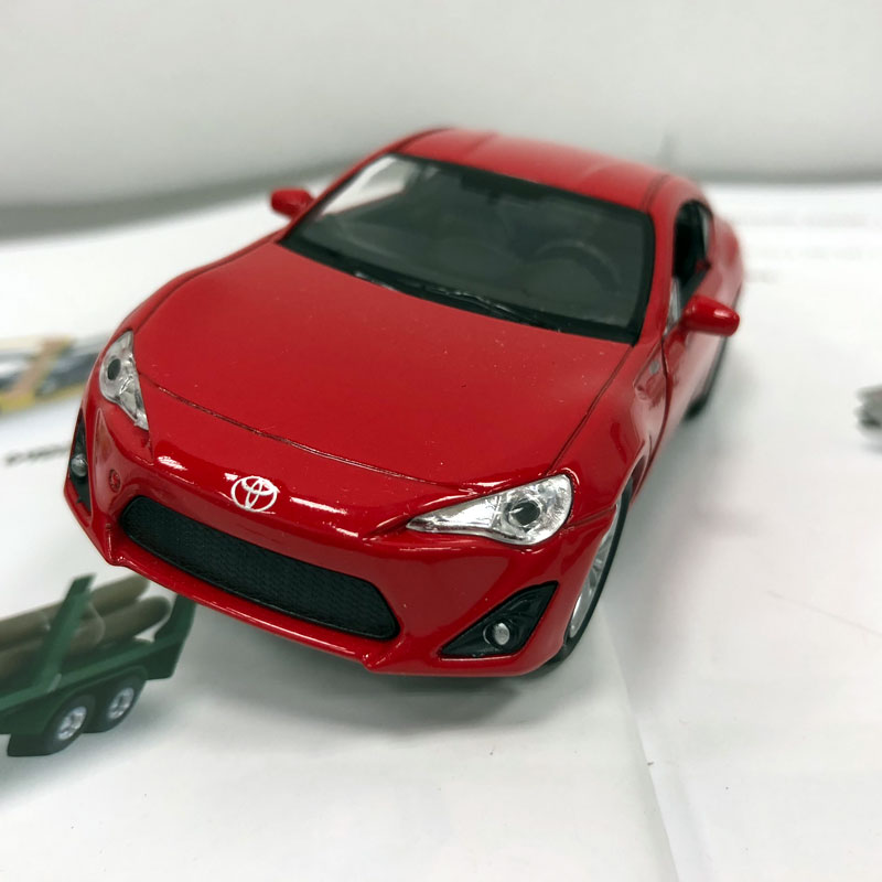 WELLY 1/36 Scale Car Toys TOYOTA 86 Diecast Metal Pull Back Car Model Toy For Gift/Kids/Collection