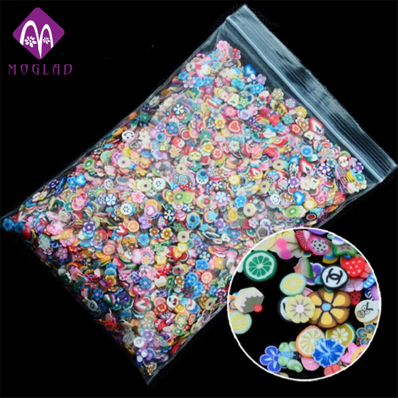 1pack 5mm Polymer Clay 3d Nail Art Decoration Mix Flowers Feather Fruit Fimo Cane For DIY Acrylic Nail Phone Supplies 24pcs air clay fimo polymer plasticine modelling clay light diy soft creative handgum toys diy plasticine clay learning toys