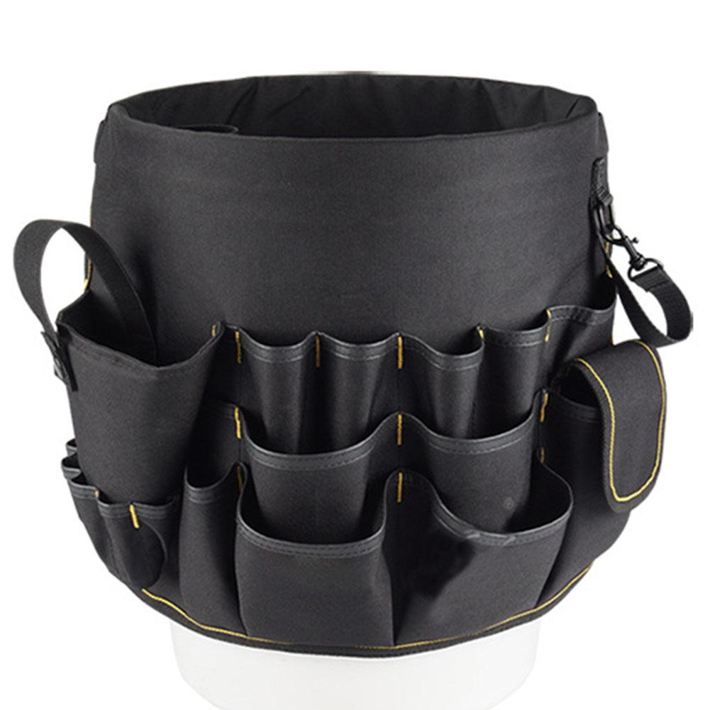 Multi-Function Tool Belt Bag Oxford Cloth Hardware Repair Kit Tool Bucket Organizer 30x28cm multi function meter reading dedicated tool bag high quality 600d oxford cloth tool bag multi pocket design electrician bag