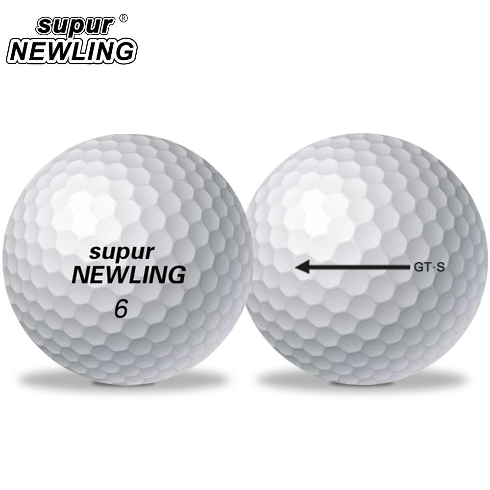10 Pcs Golf Balls supur NEWLING Super Long Distance Soft Feel 3-piece Ball Soft Feel Ball for Professional Competition