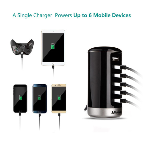Vogek 6 Ports QC2.0 Quick USB Charger Mobile Phone Charger for Samsung Huawei LG Iphone Adapter EU/US Plug Charging Station Lahore