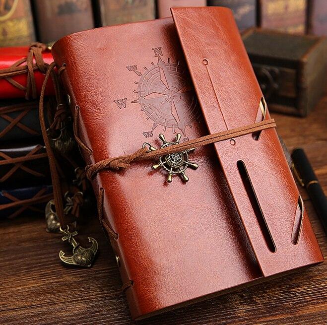 цены на 1Pcs/set New Diary Notebook Vintage Pirate Note Book Replaceable Traveler Notepad Book Leather Cover Blank Notebook в интернет-магазинах