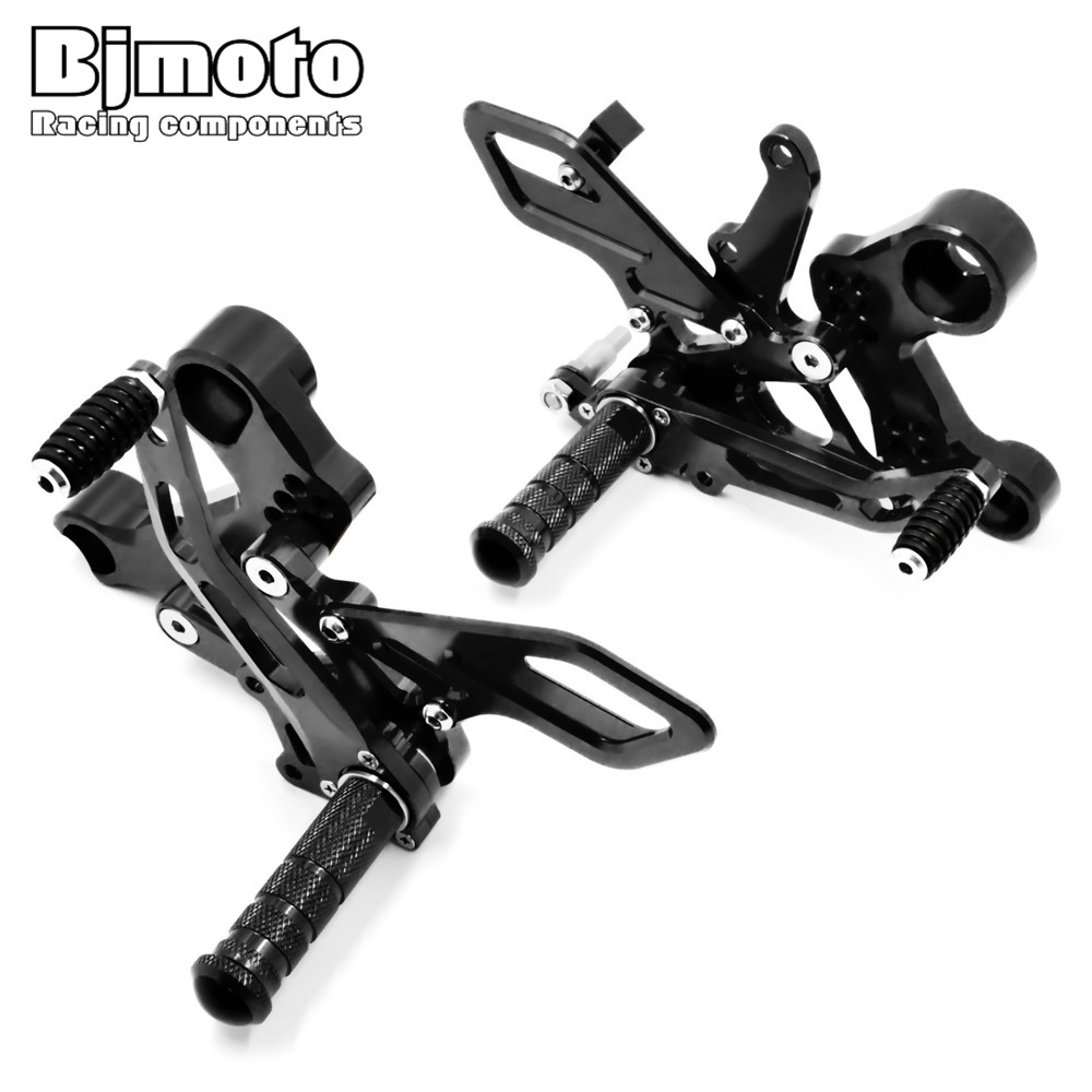 Bjmoto High Quality Motocross MT-09 FZ-09 CNC Adjustable Rearset Rear Sets Foot Rest Pegs For Yamaha MT09 FZ09 2013-2017 bjmoto for yamaha mt07 mt 07 fz07 fz 07 titanium motorcycle cnc aluminum rear fender and chain cover high quality