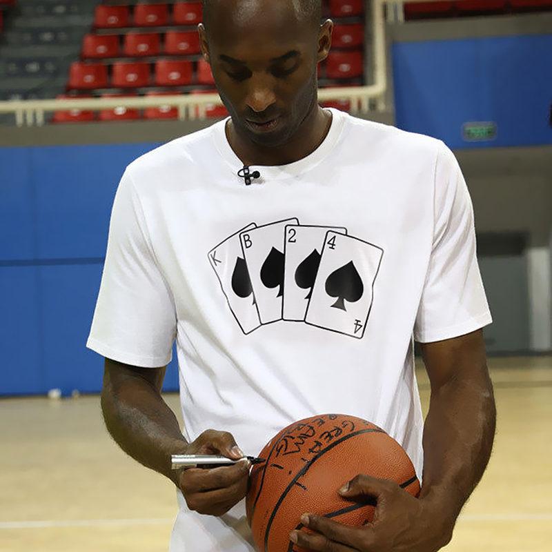 Kobe Bryant KB24 Poker T-shirts New Fashion Men Short Sleeve O-neck Cotton T shirt Casual Loose Hip Hop Funny Tops Tee