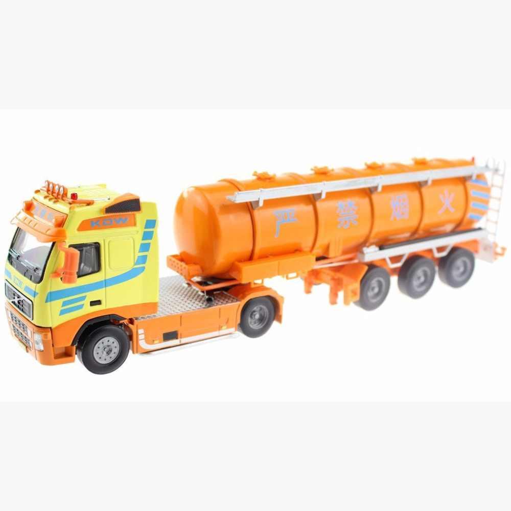 Kaidiwei Truk Tangki 6 Roda Linkage Paduan Diecast Model Alat Transportasi untuk Bayi Kecil Hadiah Kendaraan Rekayasa Mainan Anak