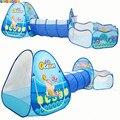 Океан смысле 3 шт. детская игровая палатка, туннель мяч детский бассейн Детские палатки для Крытый Открытый Применение большой для детей пал...