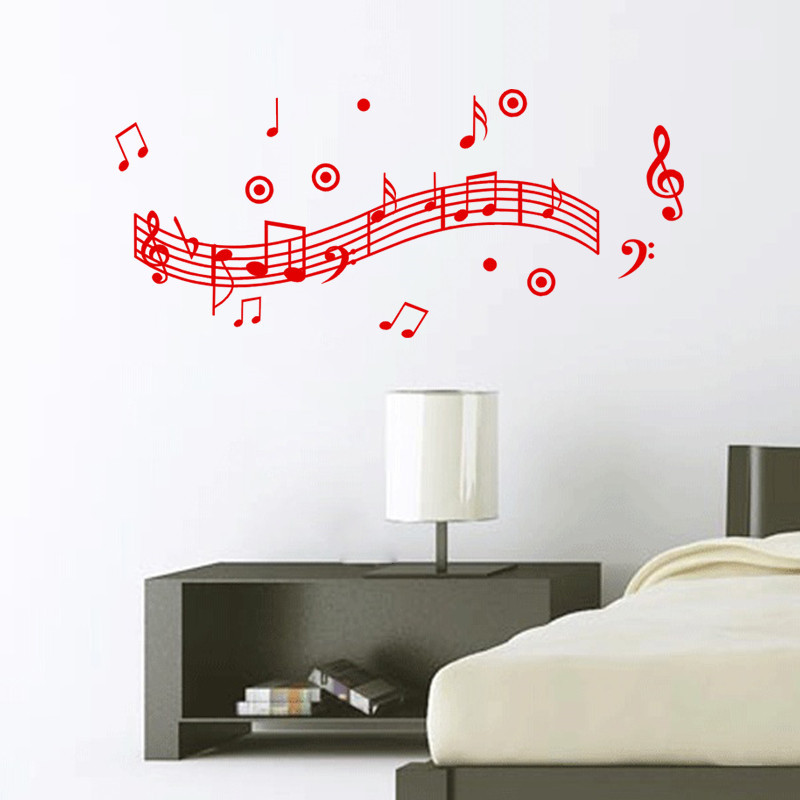 Popular musical wall decorations buy cheap musical wall for Vinilos pared aliexpress