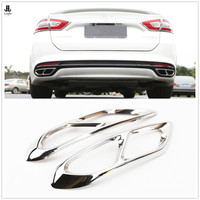Red / Blue / Black Stainless Exhaust End Tip Pipes Muffler Trim For Ford Fusion Mondeo 2013 2014 2015 2016 2017 2018