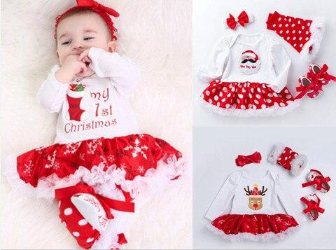 meu primeiro natal conjuntos de roupas para meninas bonitos do bebe de algodao recem nascidos