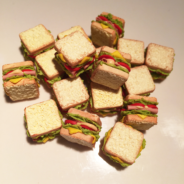 1:12 Cute MINI Dollhouse Miniature Sandwich