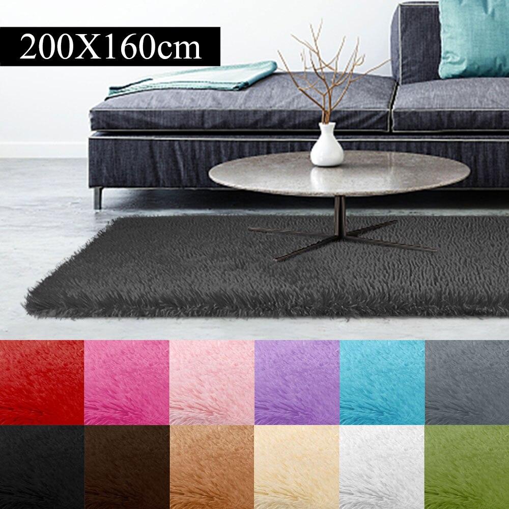 Tapis tapis de sol tapis canapé 160x200cm tapis décoration maison chambre Shaggy lumineux salon moelleux tapis multicolore