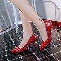 2016 Nueva Llegada Tacones de 6 CM de Charol Punta estrecha Mujeres Bombas de Zapatos de Fiesta/Boda/Trabajo Sexy Ladies Zapatos de tacón de aguja 188
