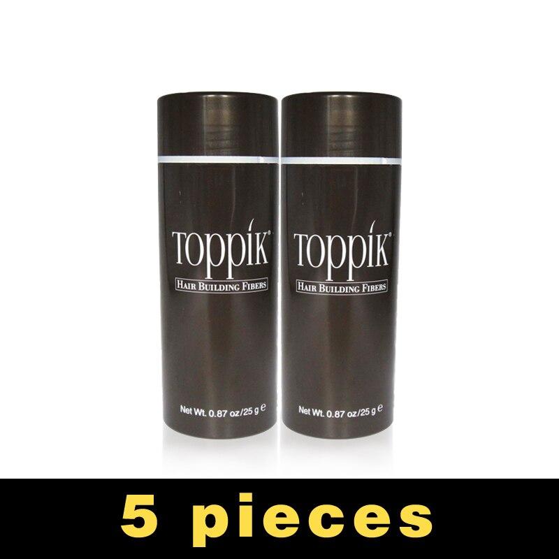 5pcs/lot 25g Toppik Hair Fiber Building Fiber Styling Color Powder Extension KeratinThinning Hair Keratin Spray Applicator toppik 27 5g best hair building fibers for hair loss treatment 10pcs lot