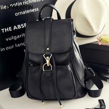 Хороший корейский стиль Женщины Рюкзак Одежда высшего качества Кожаная двойная сумка школьная сумка для девочки-подростка женские повседневные Черные Bagpack