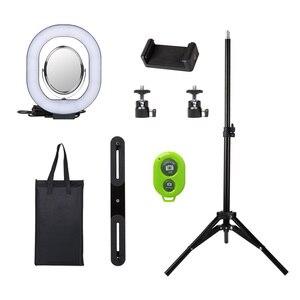 Image 2 - Yizhestudio 2 في 1 خاتم إضاءة ليد طقم الإضاءة صور مصباح للفيديو لايف يوتيوب Selfie مصباح مع بلوتوث ترايبود الهاتف عقد
