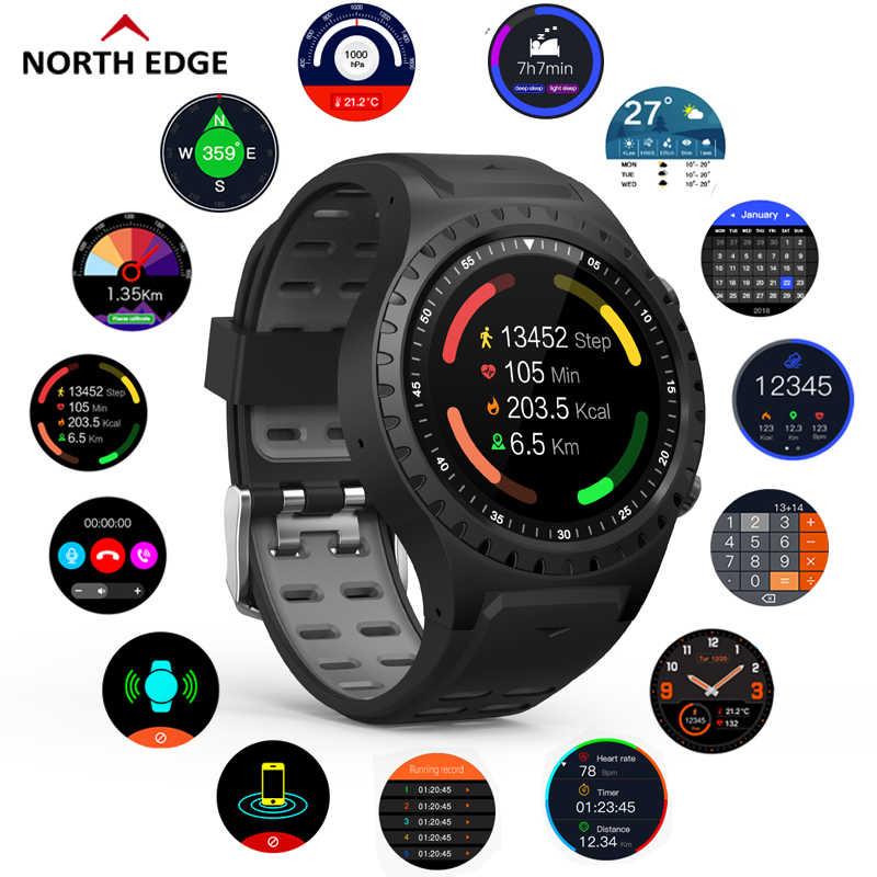 نورث ايدج جي بي إس ساعة رياضية بلوتوث دعوة متعددة الرياضة وضع البوصلة الارتفاع في الهواء الطلق تشغيل الموسيقى ساعة ذكية معدل ضربات القلب