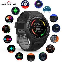North Edge gps спортивные часы Bluetooth Вызов мульти-спортивный режим компас высота открытый бег музыка Смарт часы пульс