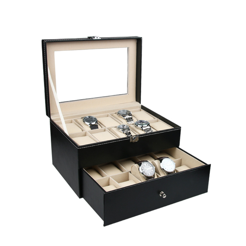 Luxury Watch Box 20 Grids Slots PU Leather Case Jewelry Storage Organizer Elegant Watches Collection gifts Organizer caja reloj