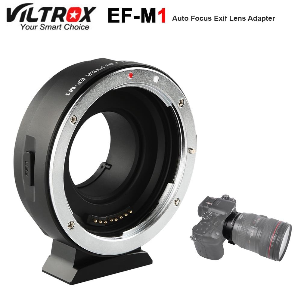 Viltrox EF-M1 Bague D'adaptation Monture AF mise au Point Automatique pour Canon EF/EF-S Lentille à M4/3 Micro quatre Tiers Caméra pour GH5/4/3 Olympus