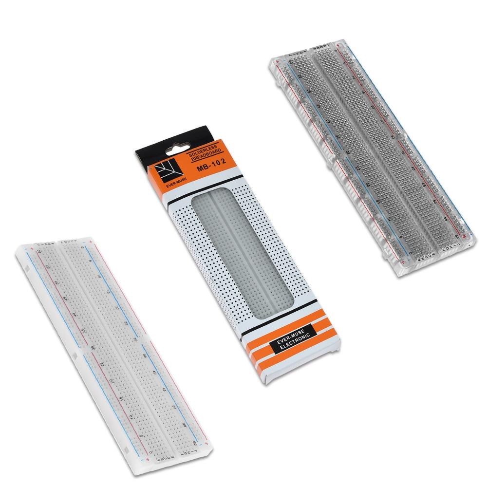 400 Points Breadboard 830 Points Breadboard MB-102 Solderless PCB Test Board  400 Hole Breadboard MB102 Test Develop DIY
