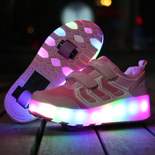 2017 Child LED Light Children Shoe Led Children's Kids Luminous Sneakers Girls&Boys Sports Glowing Shoes