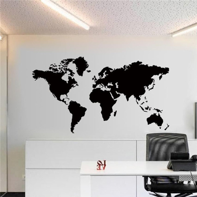2017 hot sale cool graphics black large world map vinyl wall decals 2017 hot sale cool graphics black large world map vinyl wall decals art wall sticker home publicscrutiny Images