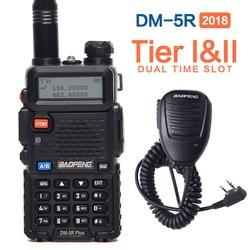 2020 Baofeng DM-5R PLUS Tier I Tier II  Digital Walkie Talkie DMR Two-way radio VHF/UHF Dual Band radio Repeater +a speaker