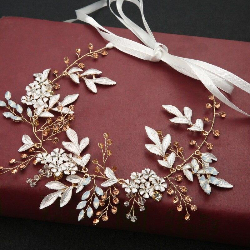 Bride Headpiece Hair-Accessories Jewelry Headband Wedding Rhinestones Cintillo-Decoration