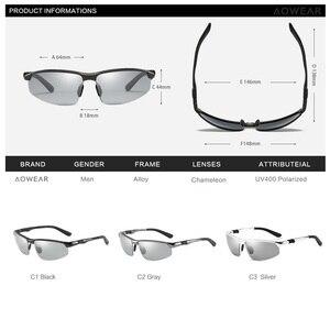 Image 5 - AOWEAR HD الرجال اللونية الاستقطاب النظارات الشمسية الرجال الاستقطاب الحرباء نظارات ليوم ليلة القيادة مضادة للوهج نظارات Gafas