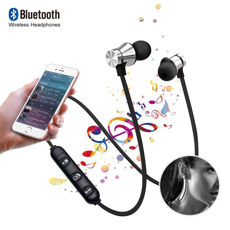 XT11 Wireless Headphones Bluetooth Earphones Magnetic Sport Waterproof Bass Headset Handsfree With Mic for IPhone Xiaomi Samsung in Bluetooth Earphones Headphones from Consumer Electronics