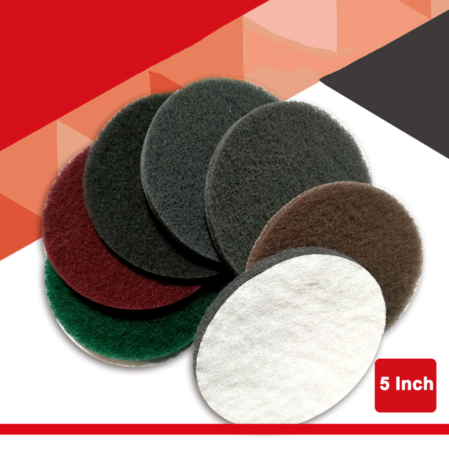 2-20Pcs 5 Inch Polishing Scouring Pad 240 400 800 1200 1500 Grit Hook Loop Cleaning Disc Sandpaper Self-sticking