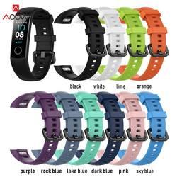 AOOW модные спортивные часы ремешок для huawei Honor 4 Smart Band замена силиконовые спортивные наручные браслет одежда высшего качества