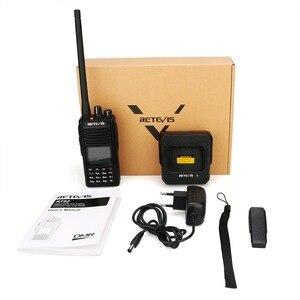 Image 5 - RETEVIS RT52 DMR Radio Digital Walkie Talkie Dual PTT doble banda DMR VHF UHF GPS Radio de dos vías encryted Ham amatner Radio + Cable