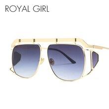 ROYAL GIRL Oversize Sunglasses Women Big Frame Vintage Sun Glasses for Male 2018 Brand Designer Metal Eyewear UV400 SS570