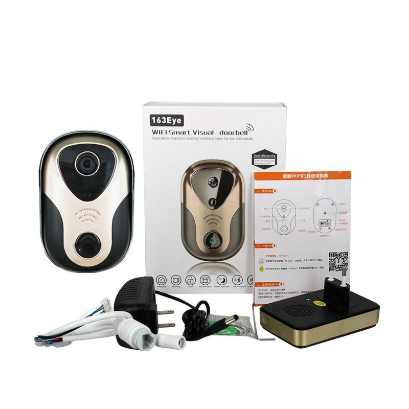 Yalxg P2P HD WiFi безопасности дома дверной Звонок ip Камера вызова вашего мобильного телефона Smart двухстороннее голос CCTV объектива