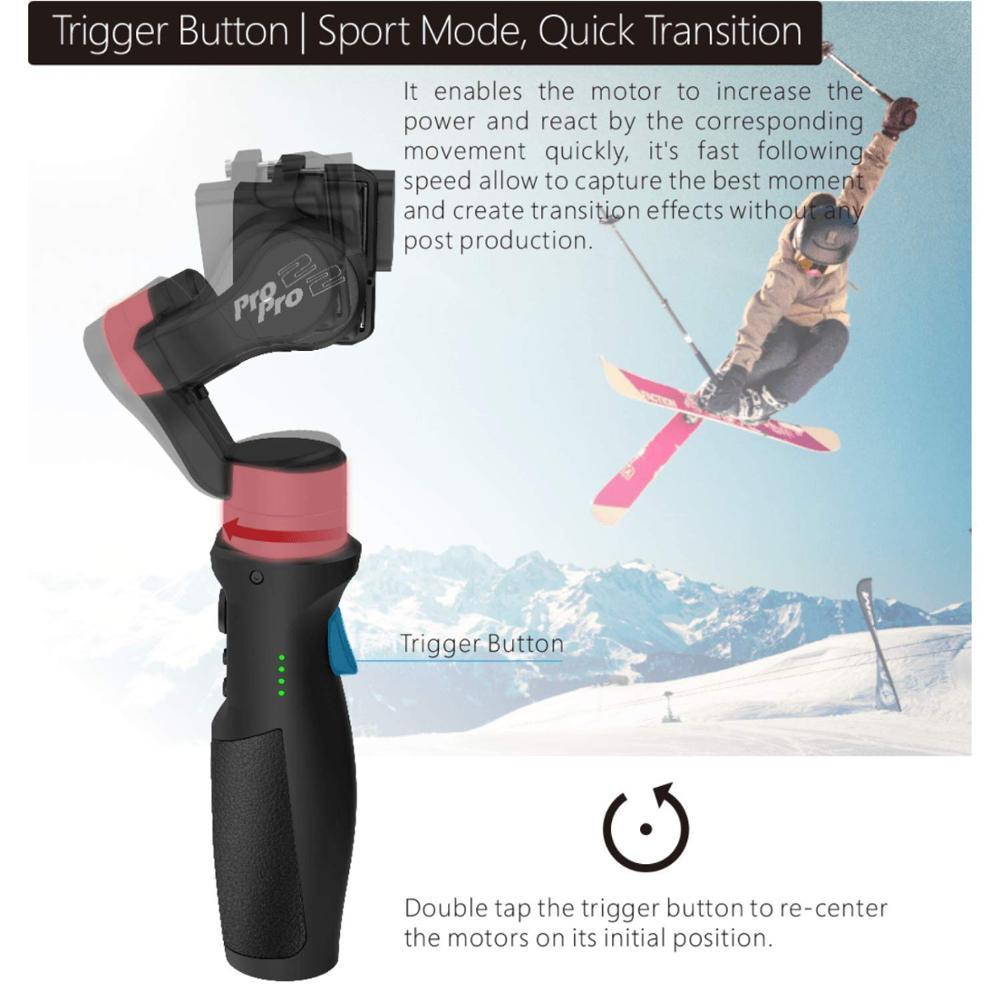 Funsnap Capture 3 Axis Handheld Gimbal Stabilizer Voor Smartphone GoPro 6 SJcam XiaoYi 4k Camera Niet DJI OSMO 2 ZHIYUN FEIYUTECH - 4