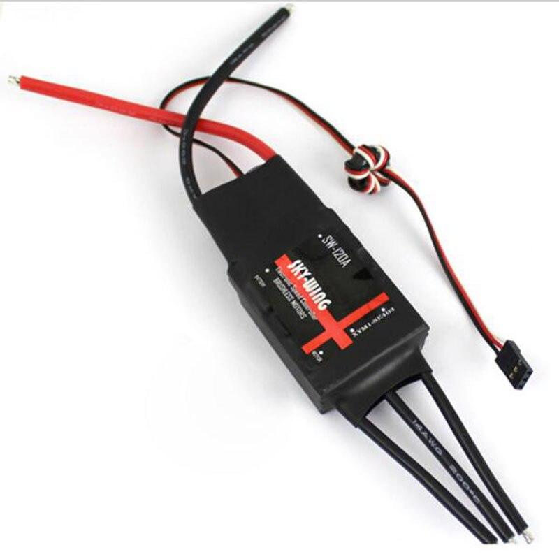 skywing esc controlador de velocidade com 5a 120a 5 v bec para asa fixa rc aviao