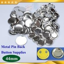 """100 наборов 1-3/"""" 44 мм Металлическая Задняя Кнопка Pinback материалы питания для профессионального производителя всех стальных значков"""