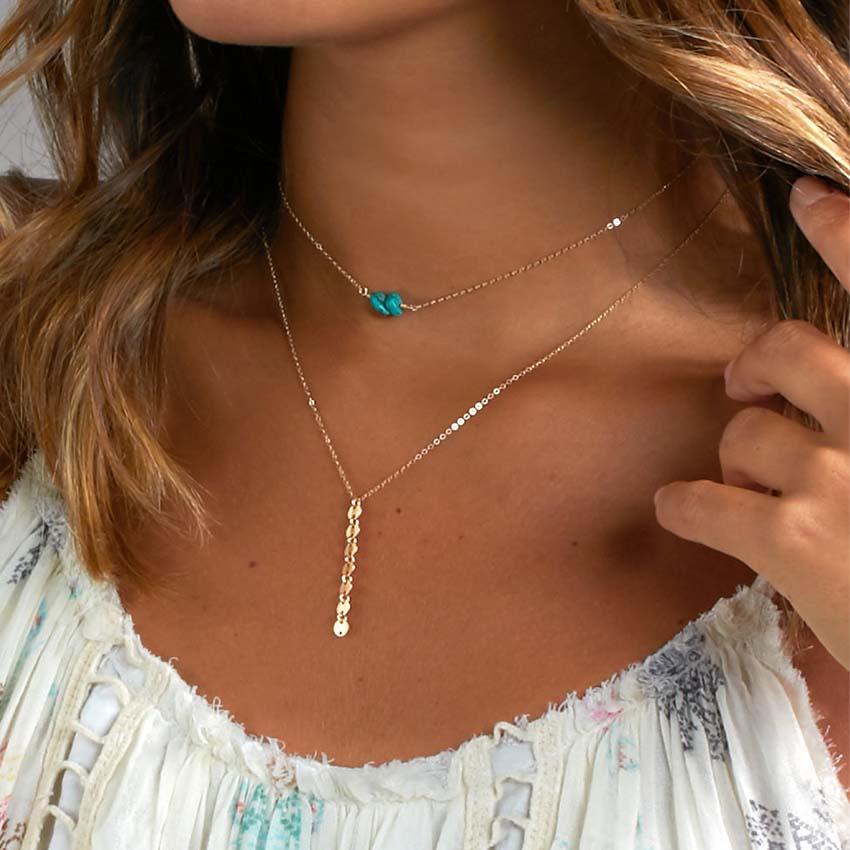 2018 boho Multi Women Bar beads stone Charm Choker Necklace chocker Jewelry collana Bijoux Femme Joyas mujer Collier ras du cou