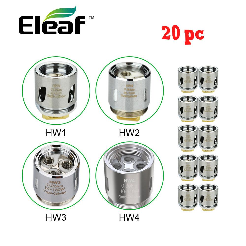 20 pc Original Eleaf Ello atomiseur bobine tête HW1 0.2 Ohm/HW2 0.3 Ohm pour Ello Mini VS HW3 0.2 Ohm/HW4 0.2 Ohm pour Ikonn 220 Kit